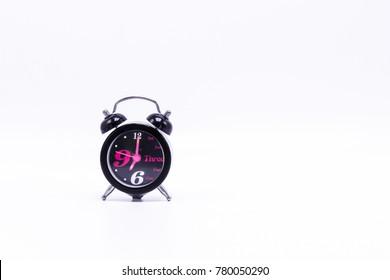 Fantasy alarm clock on white background