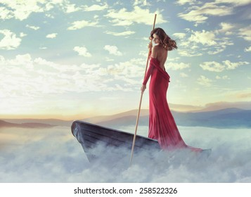 Fantasy art photo of a beautiful lady
