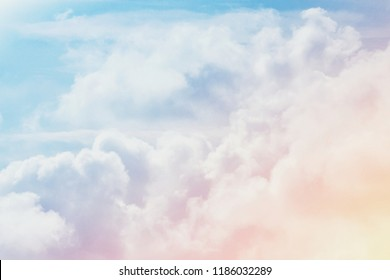 fantasy artistic cloud sky with pastel color filter and grunge texture, nature abstract background