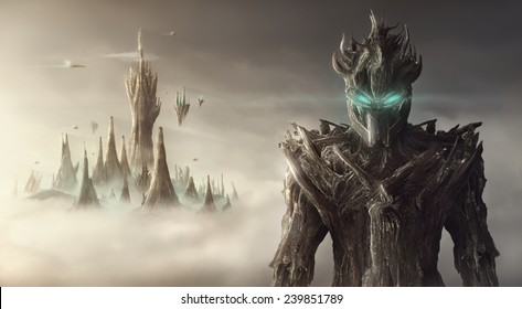 Fantasy artistic image of a rootman