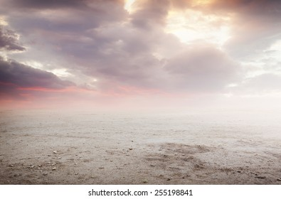 Fantasy beautiful landscape background with sunset sky
