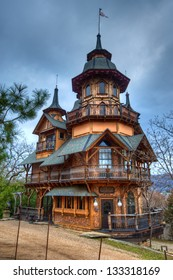 Fantasy castle built in the Ozark Mountains.