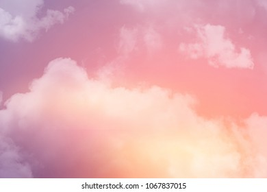 fantasy cloudy sky with gradient color, nature abstract background