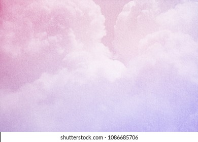 fantasy cloudy sky with gradient color and grunge paper texture, nature abstract background