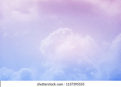 fantasy cloudy sky with pastel gradient color and grunge texture, nature abstract background
