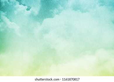 fantasy cloudy sky with pastel gradient color and grunge texture , nature abstract background