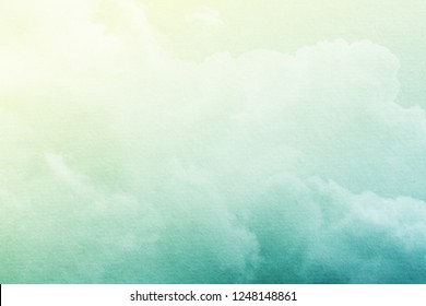 fantasy cloudy sky with pastel gradient color and grunge paper texture , nature abstract background