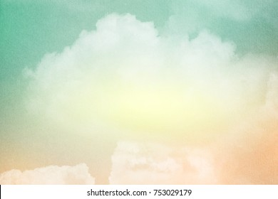 fantasy cloudy sky with pastel gradient color with grunge texture , nature abstract background