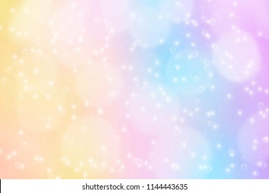 Fantasy colorful candy Watercolor background style with sparkling bokeh for presentation, banner, website, video, wallpaper
