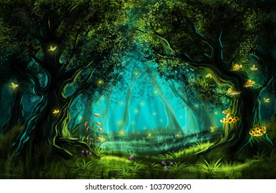 Fantasy Landscape Forests Fairytale