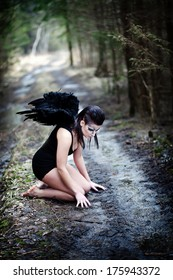Fantasy image with a fallen angel