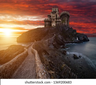 Fantasy on the game of thrones. Castle Dragonstone. Based on the series