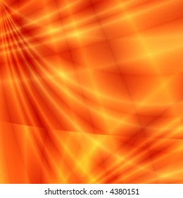 Fantasy rays on red background