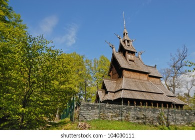 Fantoft Stave Church in Bergen, Norway