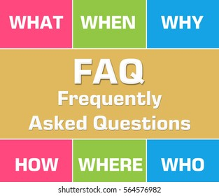 FAQ Colorful Grid