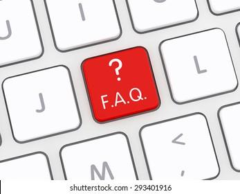 F.A.Q. Computer Keyboard