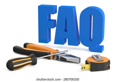 FAQ concept isolated on white background