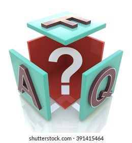 faq cube in the design of information related to internet