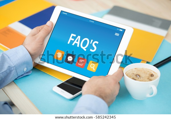 FAQ'S CONCEPT ON TABLET PC SCREEN