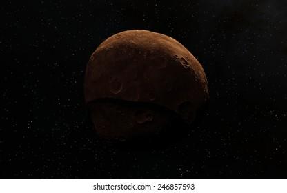 Far away planet or moon