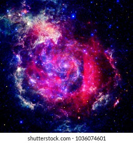 Far being shone galaxy. The elements of this image furnished by NASA.