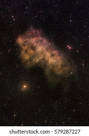 """Far being shone nebula and star field against space. """"Elements of this image furnished by NASA""""."""