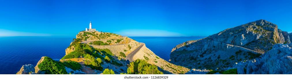Far Formentor lighthouse at Mallorca, Spain