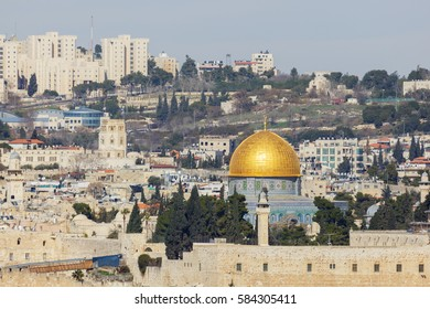 Far view to mosque of Al-aqsa (Dome of the Rock)