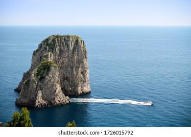 Faraglioni rocks near capri's island