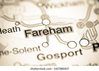 Fareham. United Kingdom on a map