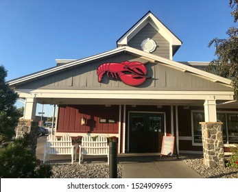 Fargo North Dakota/USA- October 07 ,2019 , Main Entrance Of Red Lobster,  Red Lobster is a Lively chain restaurant serving American seafood .