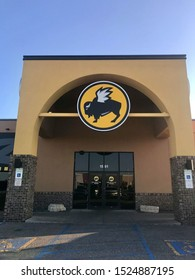 Fargo North Dakota/USA-October 07 ,2019 , Main Entrance Of Buffalo Wild Wings restaurant  , Buffalo Wild Wings is an American casual dining restaurant and sports bar franchise in the United States.
