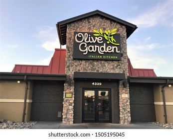 Fargo North Dakota/USA-September 15 ,2019 , Main Entrance Of Olive Garden, Olive Garden is an American casual dining restaurant chain specializing in Italian-American cuisine.