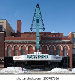 Fargo, USA - March 6 - Fargo theater on a cold spring day on March 6th 2011.