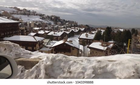 Faria town in the winter