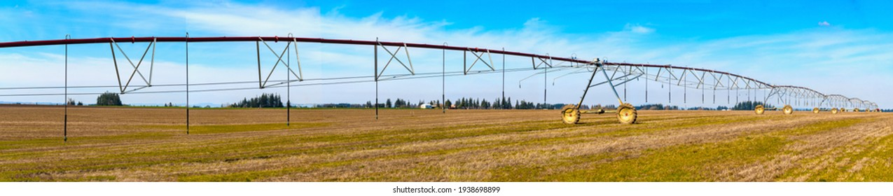 Farm Agricultural Mechanical Watering Irrigation System Panoramic.