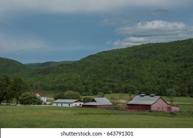 Farm in the Alleghany Highlands of rural Virginia.