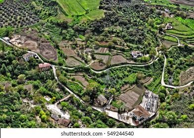 Farm in Andalusia (near Ronda). Aerial View. Spain.