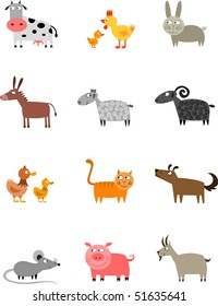 Farm animals collection - raster