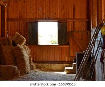 Farm - barn wood window and hay