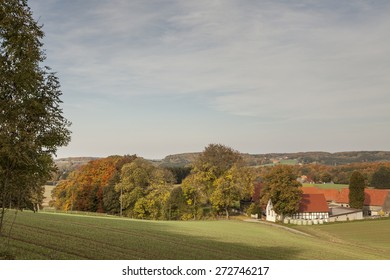 Farm in Borgloh, Osnabrueck country, Lower Saxony, Germany, Europe