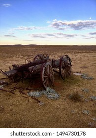 Farm Cart Ruins Australian Outback Rural Country Sunset Clouds