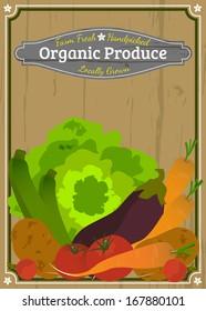 Farm Fresh Organic Produce Label