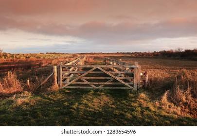 Farm Gate at Daybreak