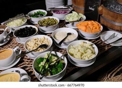 Farm green vegetables in a basket