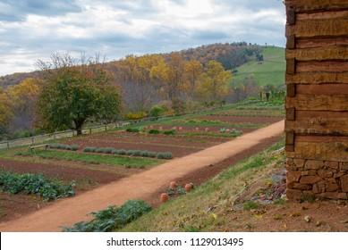 Farm at Home of Thomas Jefferson, Monticello, Virginia
