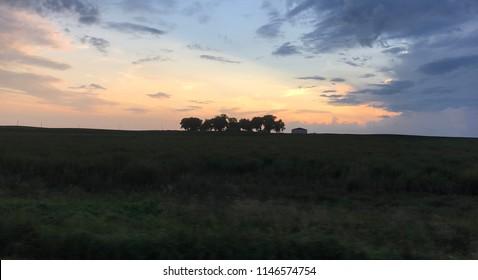 Farm house in Iowa