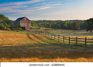 Farm house at sunrise in Martha's Vineyard