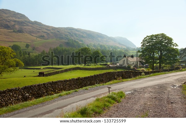 A farm  in the  Lake District National Park,  Cumbria, England, UK.