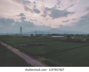 Farm landscapes of japan